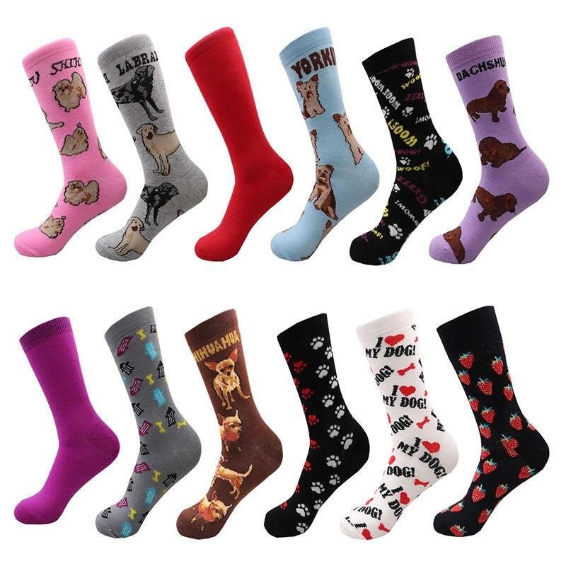 Fashion Happy Dog Socks Man Boys Ladies  Warm Socks In Winte Soft Sox Gift