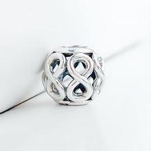 Подлинные серебряные бусины 925 пробы Новый стиль полые бесконечное