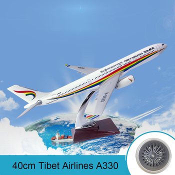 40cm Tibet Airlines A330 resin aircraft model decoration Air Tibet Airbus A330 airplane model diecast toys for children adults