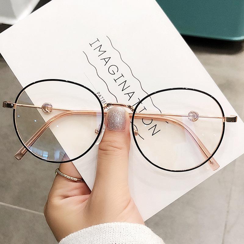 2021 Trends Office Anti Blue Light Oversized Glasses Computer Women Blue Blocking Gaming Eyeglasses Moon Blue Light Glasses