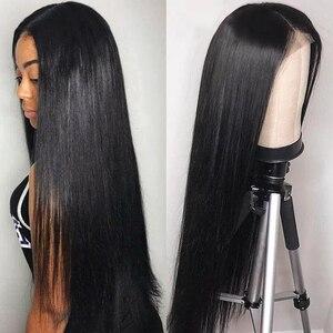 Image 4 - Ali Annabelle brezilyalı düz dantel ön İnsan saç peruk 13x4 dantel ön peruk ön koparıp İnsan saç dantel kapatma Frontal peruk