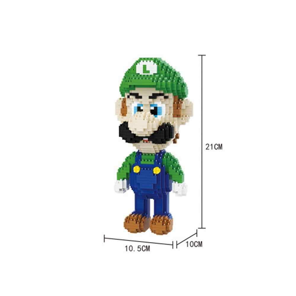 Hot lepining creatori Giappone Nintendo game Super Marios Bros Luigi mini Micro Diamante di Costruzione di Blocchi di mattoni modello giocattoli per il regalo