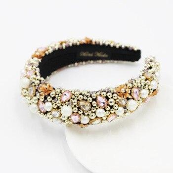 Heavy Crystal Color Shiny Diamond Headband  2