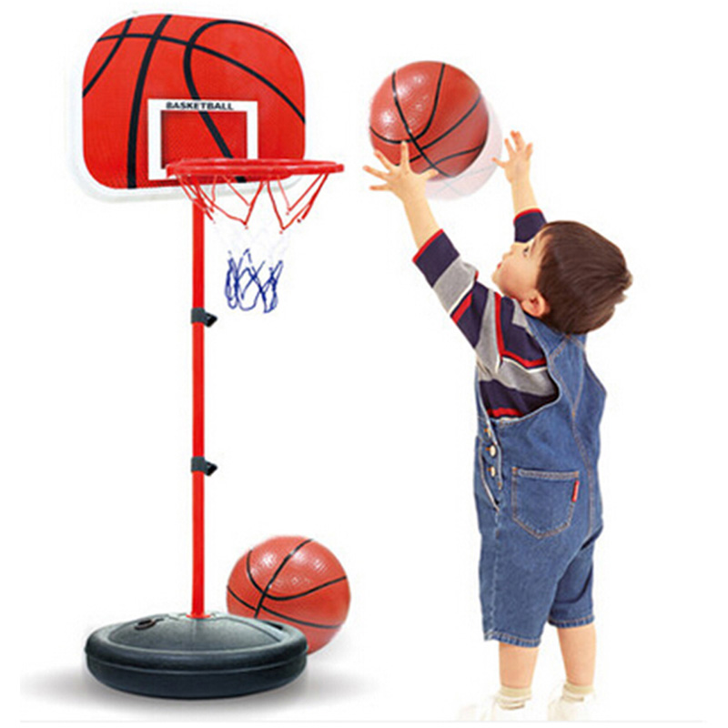 Adjustable Kids Toy Basketball Ball Hoop Outdoor Indoor Training Basketball Table Activity Game Portable Basketball Backboard