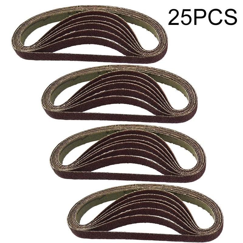 25pcs/Set Sanding Belts 330*10mm 60/80/100/120 Grit Air Finger Sander Sadning Belt High Quality For Wood