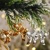 6pcs Gold Silver Angel Pendant Christmas Decorations for Home Christmas Tree Hanging Ornaments Xmas Decor New Year 2021 Navidad
