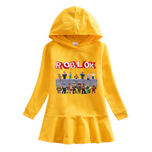 Girls Dresses Hooded Sweatshirt Kids Clothing Costumes 3-10Y Fashion letter ruffle for kids dresses kids winter clothing sets for 3 10y boys and girls hooded 90