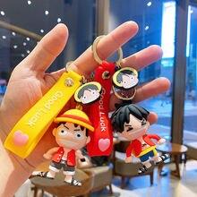Брелок Аниме из Японии 6 см цельный брелок luffy ПВХ с героями