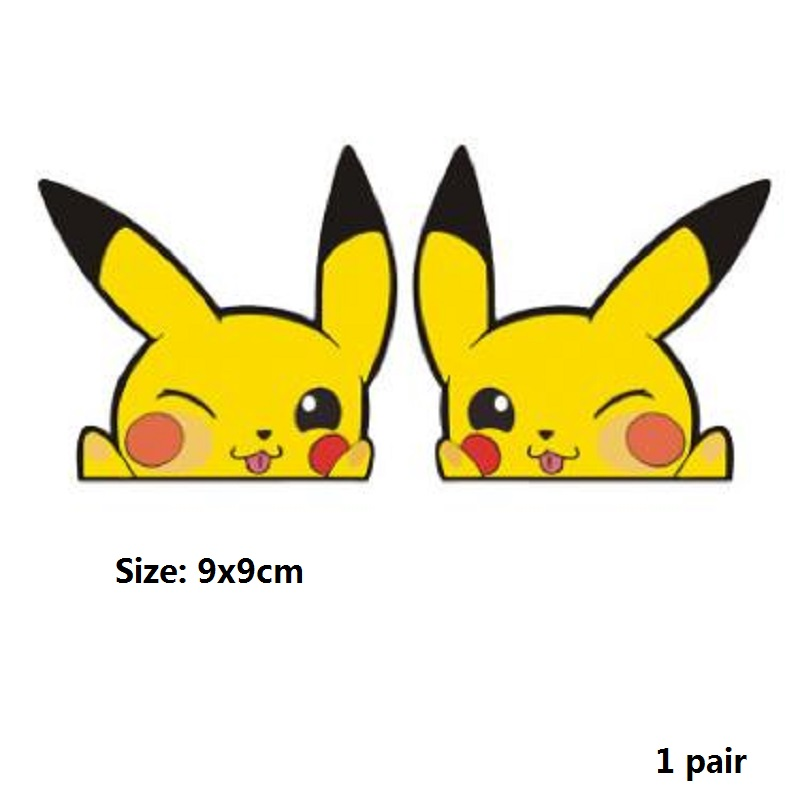 Image 5 - Car sticker Cute Pikachu pokemon figures Peeping Sticker Lovely Styling Car Accessories Motorcycle Sticker Pokemon Series Decals-in Car Stickers from Automobiles & Motorcycles