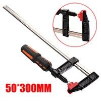 200/300mm Heavy Duty F Clamp Metall Befestigung Clamp Hohe Festigkeit Zimmerei Schellen Holz Hand Werkzeug|Klemmen|   -