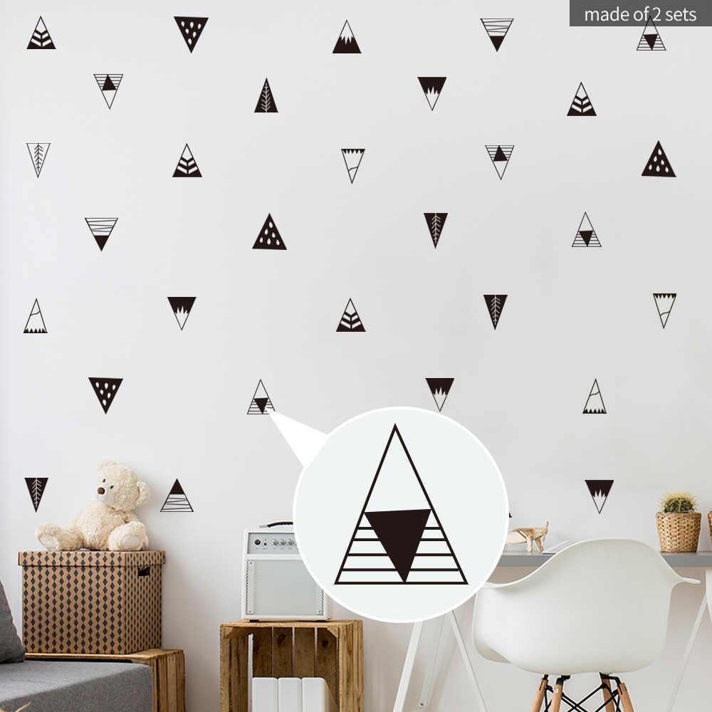 기하학 언덕 비닐 데칼 DIY 우드랜드 산 벽 스티커 어린이를위한 객실 보육 장식 벽화 예술 포스터 홈 인테리어