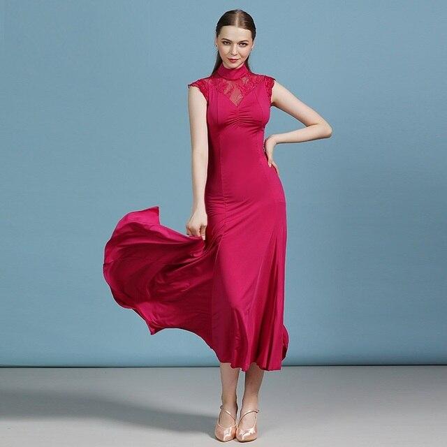 women dance dress for ballroom dancing dance costume cheap ballroom dress red tango dresses waltz dance costumes flamenco dress 2