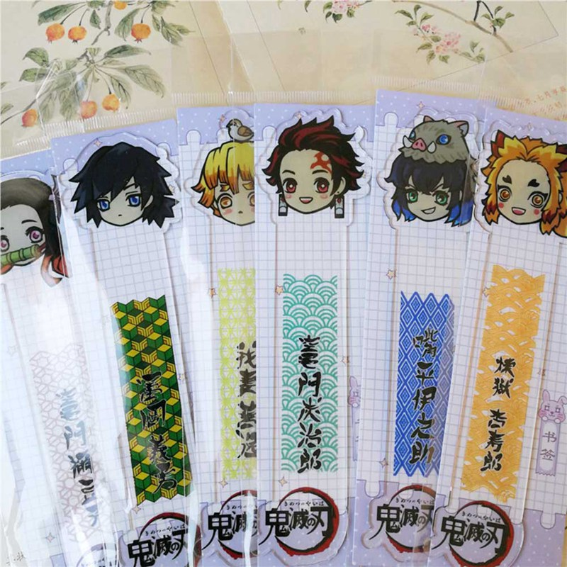 Anime Ghost Blade Serie Cute Acrylic Bookmark Creative  Bookmark School Office Supplies Children Students Beautiful Gifts