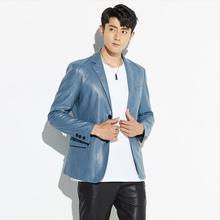 New Plus size 3XL 4XL motorcycle men's leather jacket 2020 autumn leather