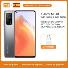 Xiaomi-Smartphone Mi 10, version Global, 8GB RAM, 128GB ROM, Snapdragon 865 Octa Core, Quad Caméra 108MP, 5G, NFC, 6.67