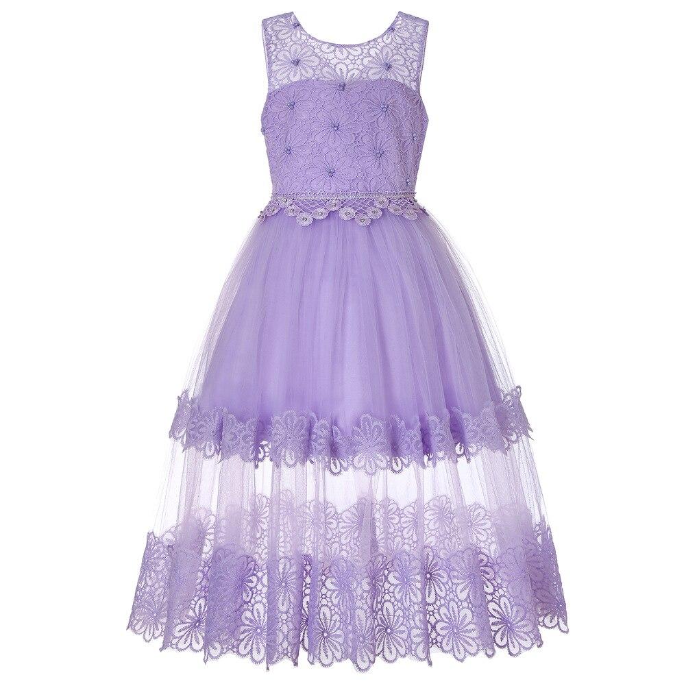 Europe And America Autumn And Winter Sleeveless Children Wedding Dress Girls Mopping Gauze Princess Tutu