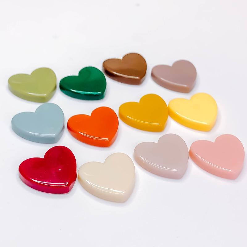 Полимерная пластиковая подвеска в форме сердца, аксессуары для сережек, компоненты ювелирных изделий ручной работы, 10 шт.