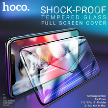 hoco tempered glass screen protector for iPhone 11 Pro Max X 11 Xr Xs Max phone full screen protection glass 2.5D shock proof