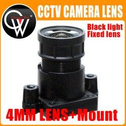 Obiektyw HD 4mm 2MP F1.0 M12 gwiazdka lekki i czarny obiektyw stałoogniskowy + mocowanie m12 na aparat ip HD Części do telewizji przemysłowej    -