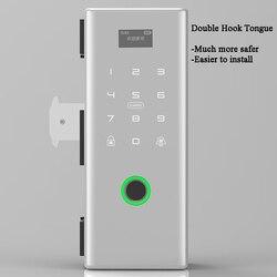 Tuya Wifi Glazen Schuifdeur Slot Biometrische Vingerafdruk Slot Elektrische Digitale Lock Frame Glas Deurslot Houten Deurslot