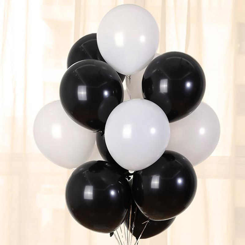 10pcs 5'' 10'' 12'' Latex Black White Balloons Rose Gold Confetti Birthday Party Decorations Ballon Wedding Decoration Supplies