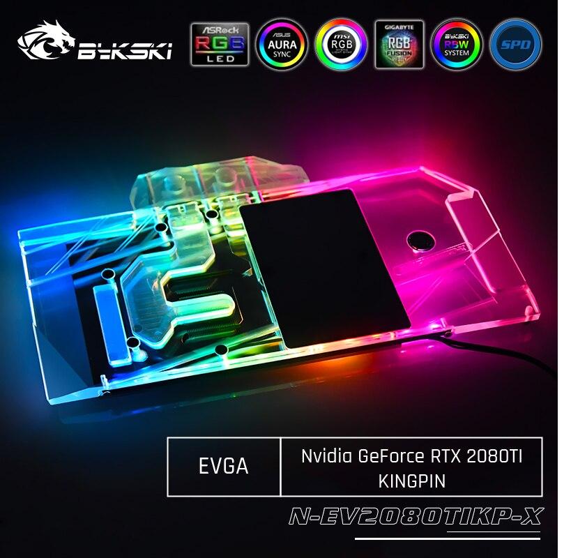 Bykski N-EV2080TIKP-X GPU Water Cooling Block For EVGA Nvidia Geforce RTX 2080Ti KiNGPIN Computer Component Heat Dissipation