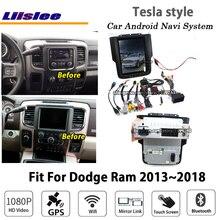 Liislee Android 6,0 + 32 2G para Dodge Ram 2013 ~ estéreo 2018 Tesla estilo coche BT Carplay GPS Navi mapa sistema de navegación Multimedia
