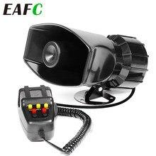 Sirena de emergencia para coche, sistema de altavoz con amplificador PA, 60W, 12V