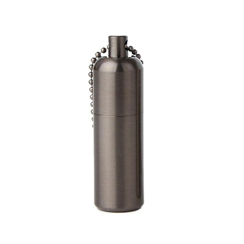Outdoor Camping Mini Kerosene Lighter Portable Small Gift Kerosene Lighter Key Chain Matt Metal Lighter