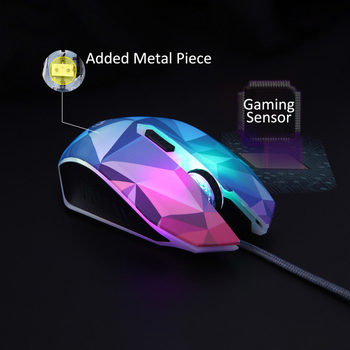 Gaming Mouse 3200 DPI Adjustable Wired LED Computer Mice USB Cable Silent Mouse Diamond Version Gaming Mouse For Laptop PC 5