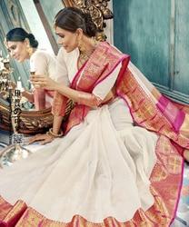 Thailand Traditie sari's voor vrouwen in India Sari Zijde Floss Sally Jacquard Weave Sari Dans kostuum saree indian kleding jurk