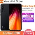 Глобальная прошивка Xiaomi Redmi Note 8 6 ГБ ОЗУ 128 ГБ ROM мобильный телефон Snapdragon 665 Octa Core 48MP Quad Camera 6,3