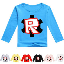 Cartoon Letters Long Sleeve T-shirts children Spring and autumn Comfortable Tops Boys Girls Sweatshirt(China)