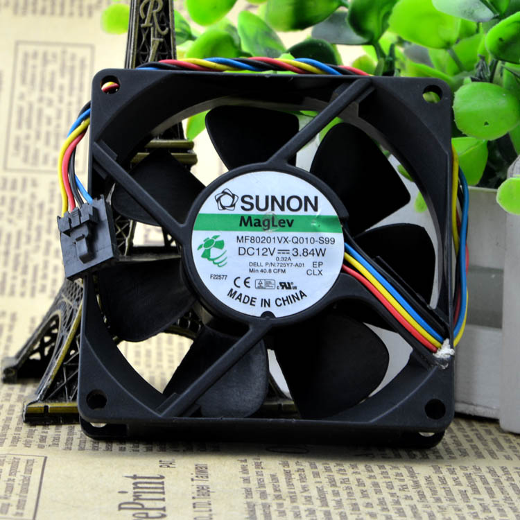 80mm Server Fan SUNON MF80201VX-Q010-S99 8020 Cooling Fan With 12V 3.84W 80*80*20mm 4wires 5Pin 725Y7