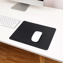 New Mouse Pad PU Leather Candy Solid Color mousepad Office Gaming mouse pads For Laptop Computer PC Desktop 30x24cm Waterproof