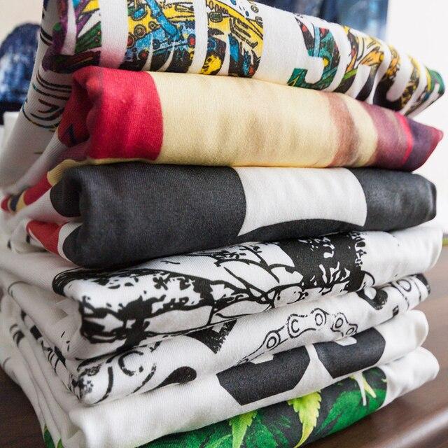 Фото футболка мужская с принтом модная облегающая рубашка из хлопка цена