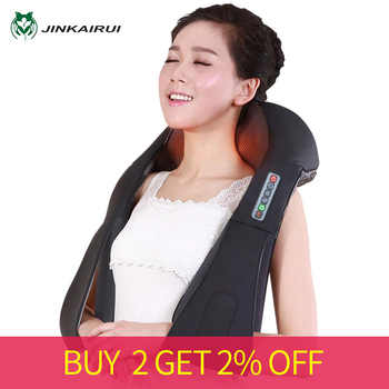 Shiatsu Neck Back Massagem with Heat Deep Kneading Massager Shoulders Legs Foot Full Body Portable Electric Massager Home Office - DISCOUNT ITEM  42% OFF All Category