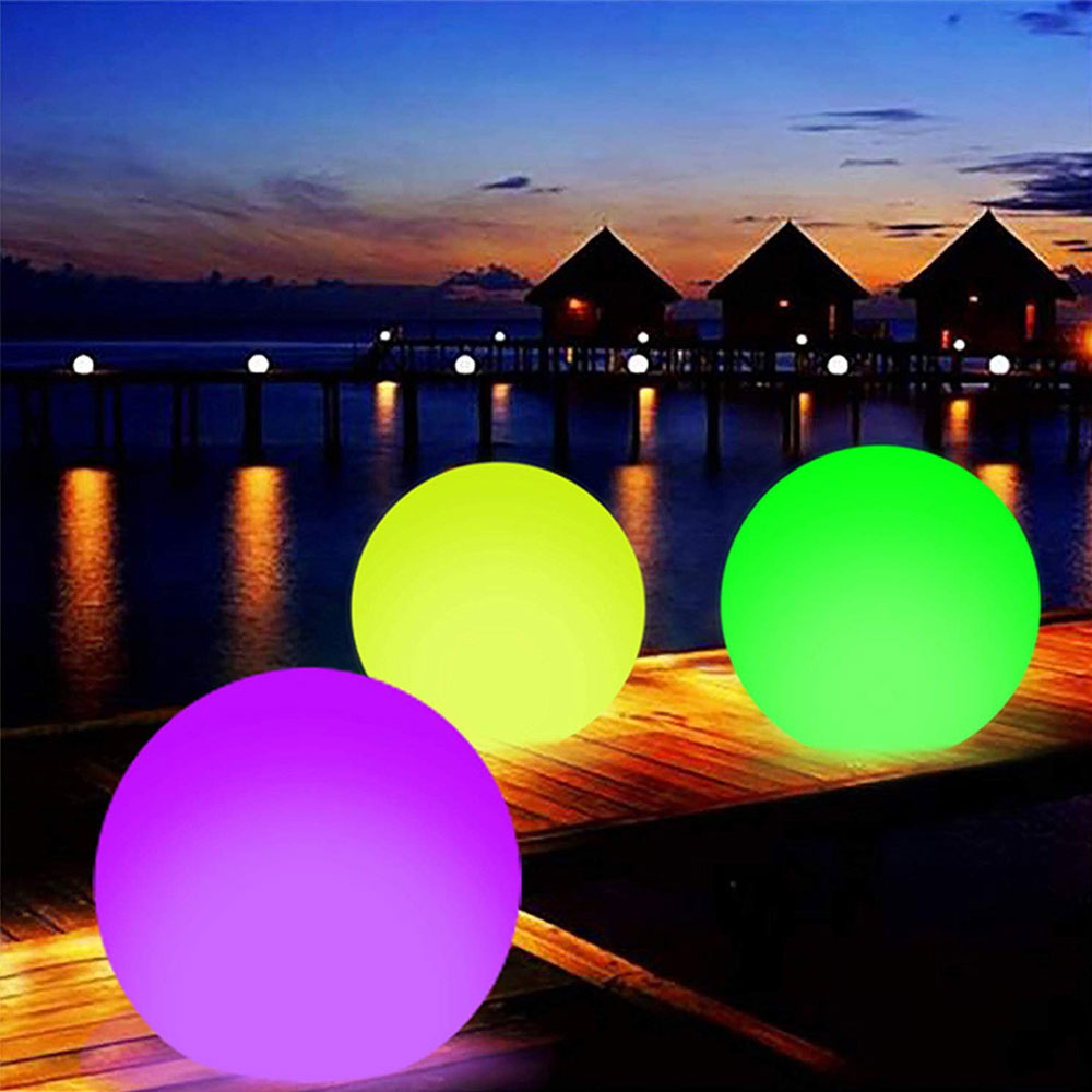 Funny Inflatable Luminous Ball Glowing Ball PVC Remote Control LED Ball Decorative Beach Ball For Outdoor Swimming Pool Outside
