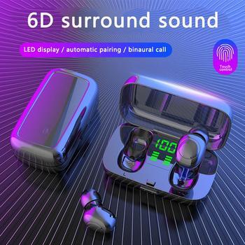 XG23 IPX6 Waterproof Wireless Earphones for Swimming TWS Bluetooth Earphone Mini Sports Touch Earbuds Earplug with Charger Box