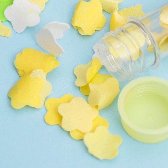 Disposable Travel Mini Scented Soap Bath Child Hand Washing Soap Paper Tube Portable Petal Soap Paper Random Colors 5