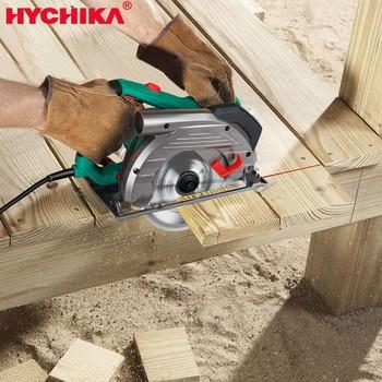 цена на HYCHIKA  Electric Circular Saw  1500W Power Tools 2 PCS Saw Blades 24/60T Blade for Wood Circular Saw Woodworking Tools Wood