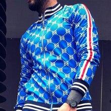 Новый BB плед молнии куртки мужчины осень спортивный костюм высокое качество мужская толстовка человек мода Хай-стрит, куртка повседневная стенд воротник верхней