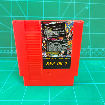 Retro 852 in 1 (405+447) Game Cartridge 72 pins 8 Bit Games 1024MBit Memory Chip in use Battery Save tanie i dobre opinie CSUOFAT Nintendo System Rozrywki Nintendo