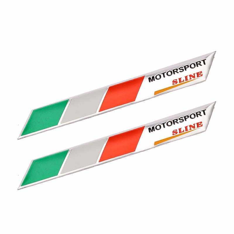 2 قطعة الألومنيوم إيطاليا العلم شعار الحاجز جذع ملصق مائي ل ألفا روميو العنكبوت 147 GTA جيوليتا فيات برافو فياجيو لينيا