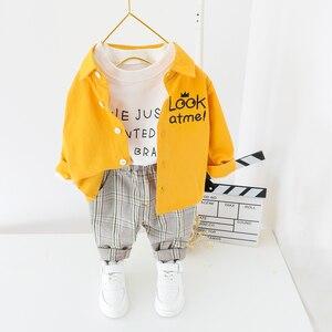 Image 1 - 子供服 2020 春の幼児の男の子服シャツパンツ 2 本の衣装スーツ子供服衣装セット