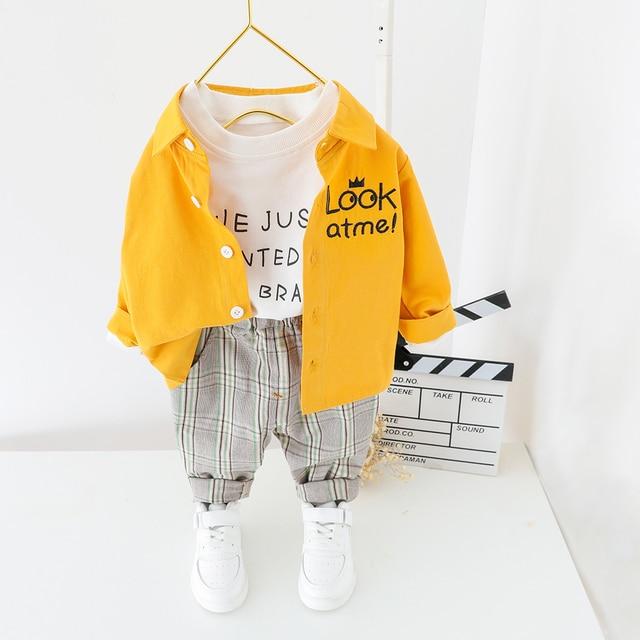 子供服 2020 春の幼児の男の子服シャツパンツ 2 本の衣装スーツ子供服衣装セット