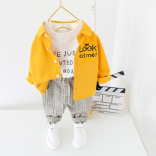 Children Clothes 2020 Spring Toddler Boys Clothes Shirt pants 2Pcs Outfit Suit Kids Clothing For Baby Costume Sets