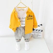 Vestiti dei bambini 2020 della Molla Del Bambino Dei Ragazzi Vestiti Camicia pantaloni 2Pcs Vestito Dei Capretti del Vestito Dei Vestiti Per Il Bambino Costume Set