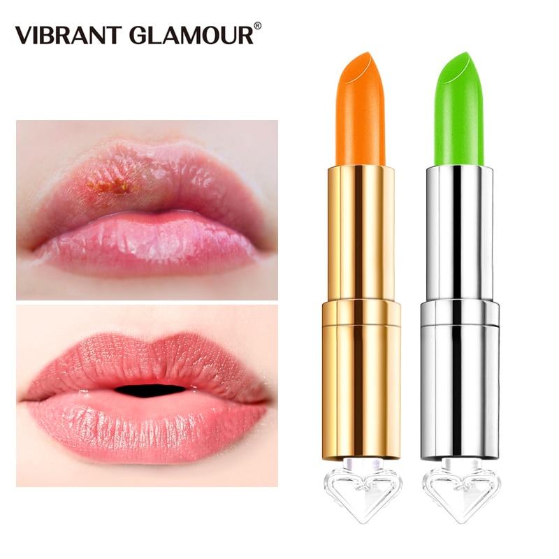 VIBRANT GLAMOUR Chameleon Lipstick Honey Moisturizing Nourishing Lip Lighten Lip Line Prevent Chapped Natural Extract Lip Care