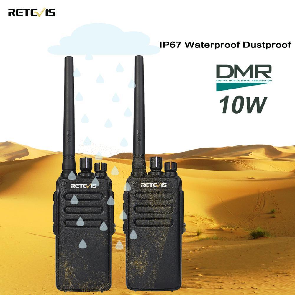 2pcs Retevis RT81 10W Walkie Talkie DMR Digital Radio IP67 Waterproof UHF 400 470Mhz VOX Encrypted